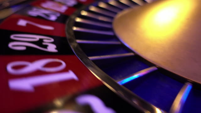 The numbers of a roulette wheel - extreme close up video