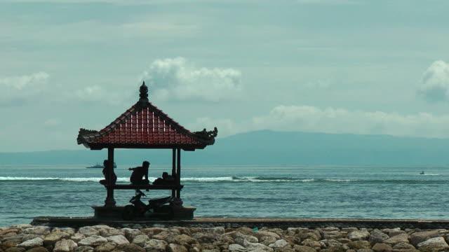 The ocean, a gazebo, infinity relax video