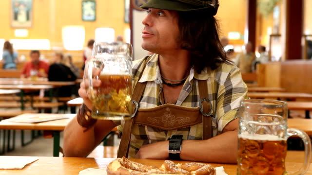 the octoberfest man - oktoberfest stock videos and b-roll footage