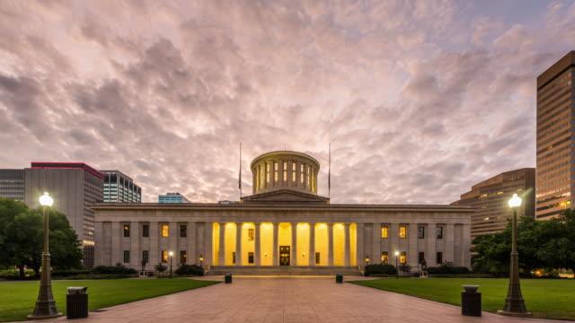 the ohio statehouse - stolice filmów i materiałów b-roll