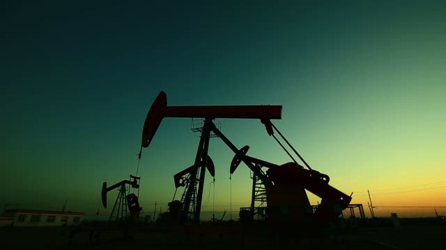 The oil pump, industrial equipment The oil pump, industrial equipment oil industry stock videos & royalty-free footage