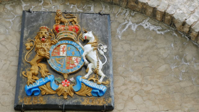 The old coat of arms on the wall of Fort Niagara video