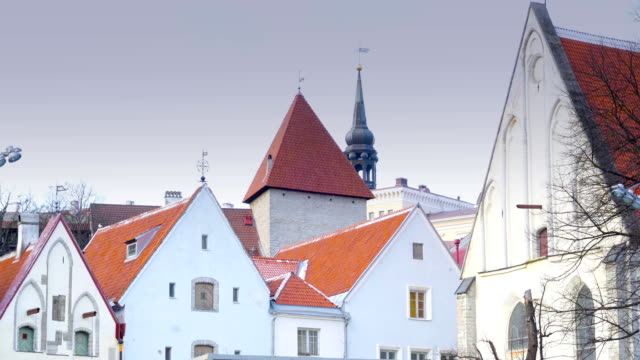 The old style houses in Tallin video
