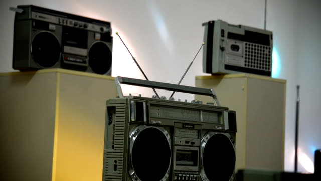 The old tape. Boomboxes video
