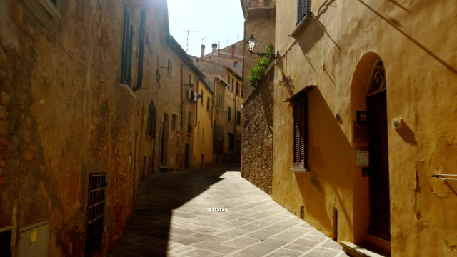 the old town of volterra, tuscany, italy - italian architecture stock videos & royalty-free footage