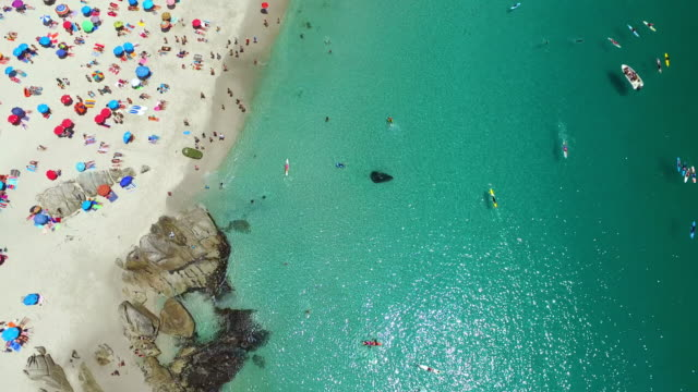 the only way to spend a summer day! - aerial beach stock videos & royalty-free footage