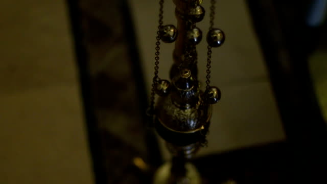the orthodox church candle holder - communion stock videos and b-roll footage