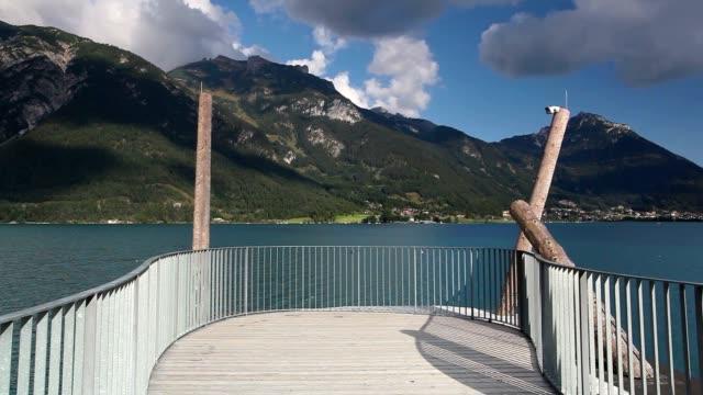 the panoramic viewing platform - stato federato del tirolo video stock e b–roll