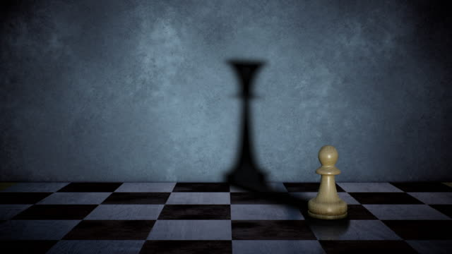 The pawn casts the shadow of the queen