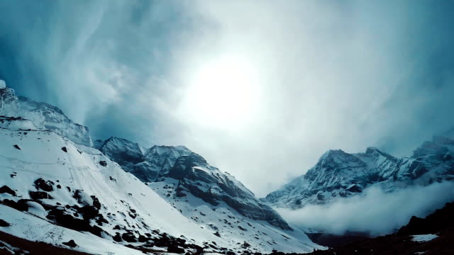 The peaks of Himalayas video