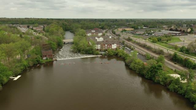 The Peninsular Paper Dam and the Huron River in Ypsilanti, Michigan