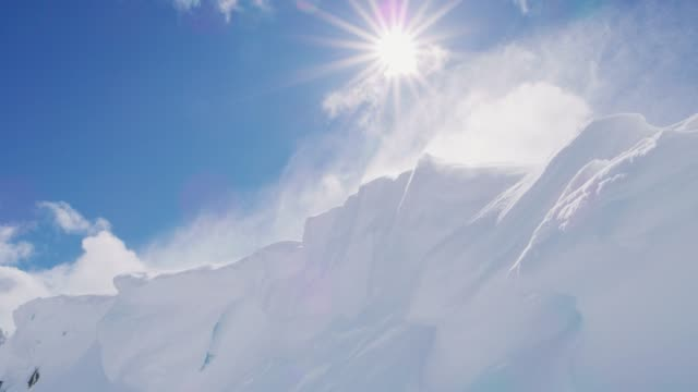 The perfect combination of wind, snow, and sun