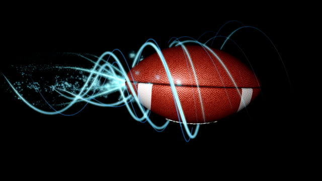 vídeos de stock e filmes b-roll de perfeita bola de futebol em espiral v01 com alpha matte - bola