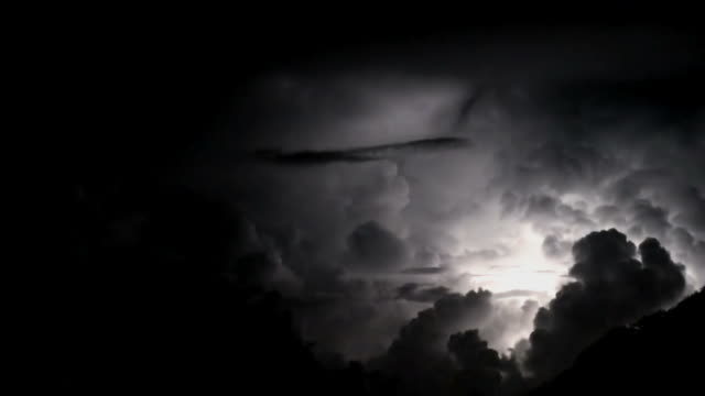 The Perfect Storm; spectacular thunderbolts and lightnings