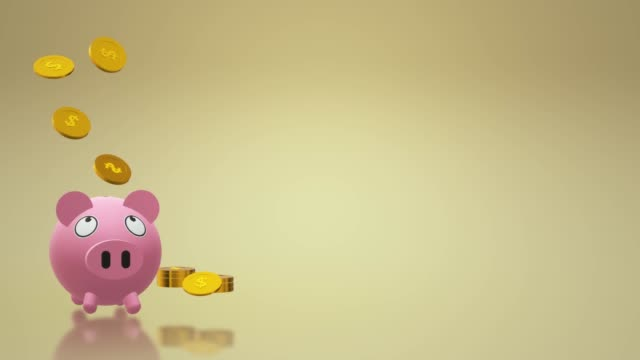 The Piggy bank coin 3d rendering for money content.