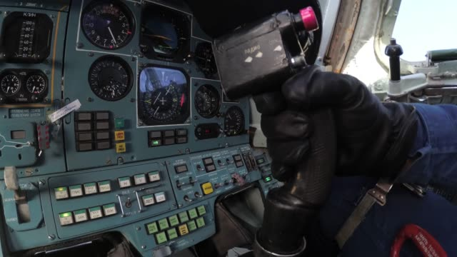 The pilot rejects the control stick