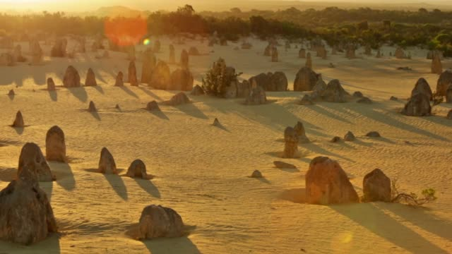 the pinnacles at sunset - western australia stock videos & royalty-free footage