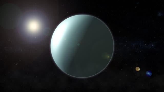 the planet of uranium rotates in space - venus стоковые видео и кадры b-roll