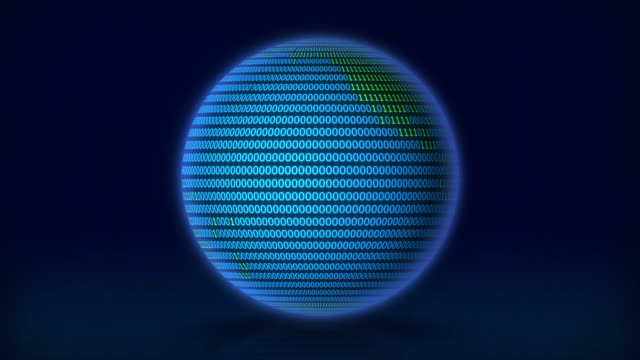 stockvideo's en b-roll-footage met the planet turns digital. - new world