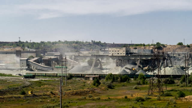 The Plant of the Production the Crushed Stone video