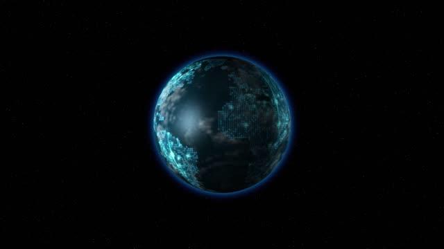 vídeos y material grabado en eventos de stock de el punto tierra gira en el espacio - earth day