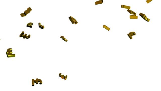 the pounds falling from the sk - pound sterling isolated bildbanksvideor och videomaterial från bakom kulisserna
