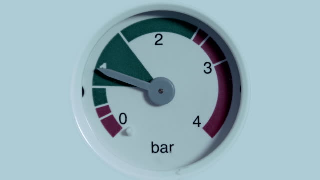 The pressure gauge needle deflects when the pressure in pipeline system changes