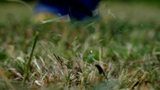 The Putting Green. Close-up view,Slow motion video