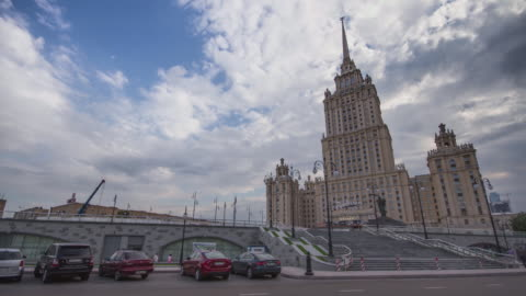 RUSSIA. MOSCOW - 2013: TL The Radisson Royal Hotel in sunny day video