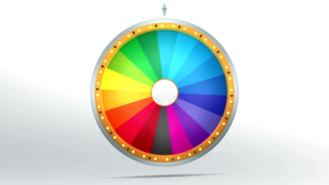 The rainbow colour graphic style of Wheel of fortune video