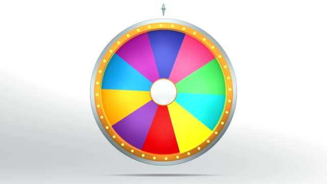 The rainbow colour graphic style of Wheel of fortune The wheel of fortune or Lucky spin animation was created by Three Dimensional. Video is included the alpha channel and motion loop. incentive stock videos & royalty-free footage