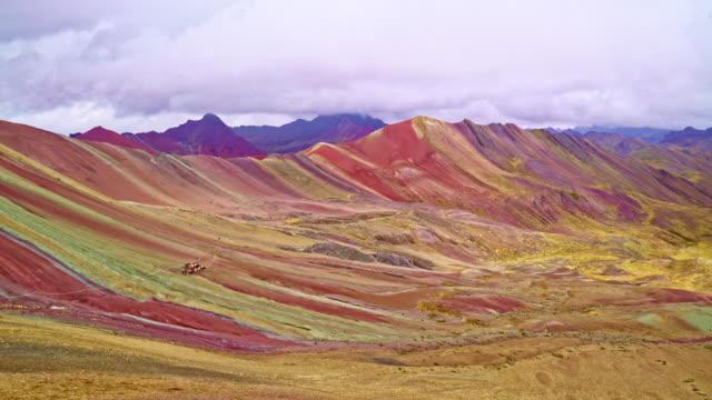 虹山ペルー - レインボー点の映像素材/bロール