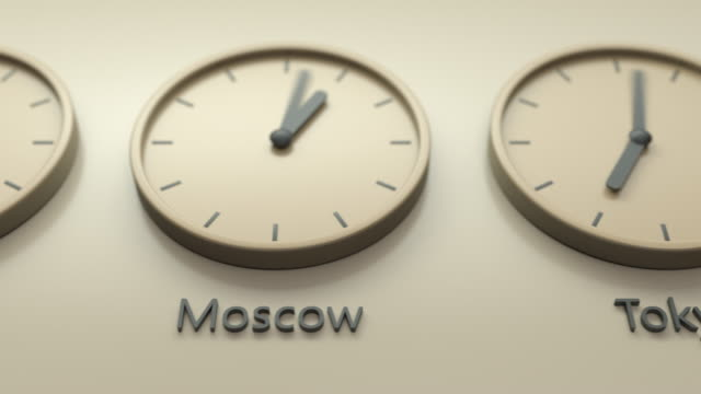The real world clock, capital cities time of the day