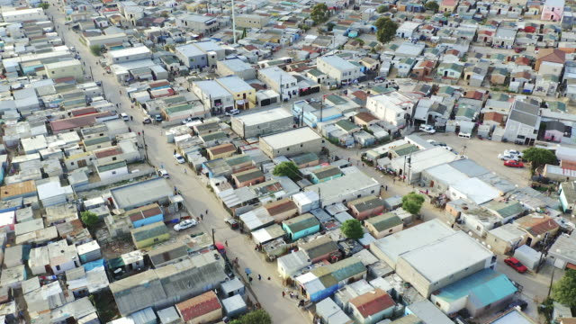 The reality of life in South Africa 4k drone footage of a township in South Africa country geographic area stock videos & royalty-free footage