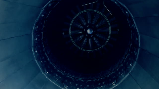 The rear of the aircraft engine video