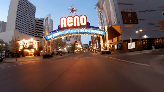 the reno arch - nevada video stock e b–roll