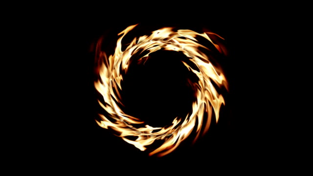 The Ring of Fire Rings of Real natural fire isolated on black background HD. For Alpha channel just desaturate the picture. alpha channel stock videos & royalty-free footage