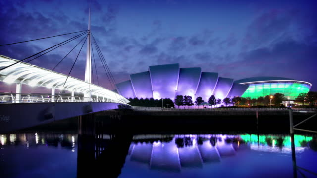 The River Clyde and SECC, Glasgow, Scotland video