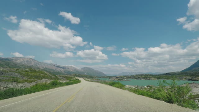The Road between Carcross in Canada and Skagway in Alaska