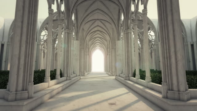 the road to eternity v - church architecture stock videos & royalty-free footage