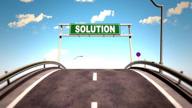 vídeos y material grabado en eventos de stock de el camino hacia el éxito - señalización vial