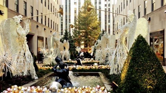 The Rockefeller Center At Christmas.