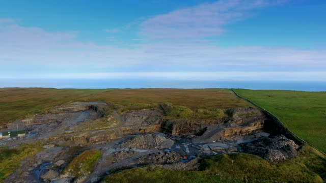 The rocks from the Cliffs of Moher in West Ireland video