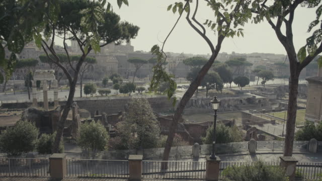 The Roman Forum from Capitoline hill in Rome video