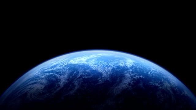 vídeos de stock e filmes b-roll de the rotating earth - oceano pacífico