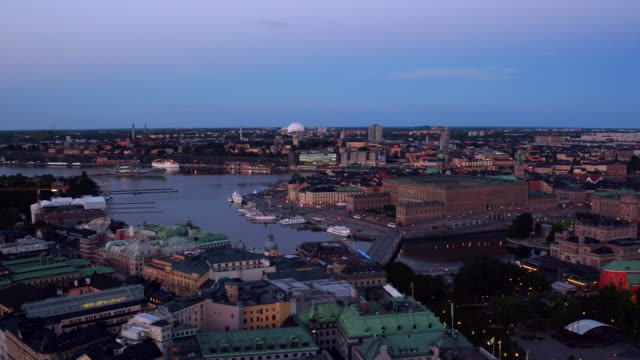 AERIAL: The royal castle in Stockholm city. video