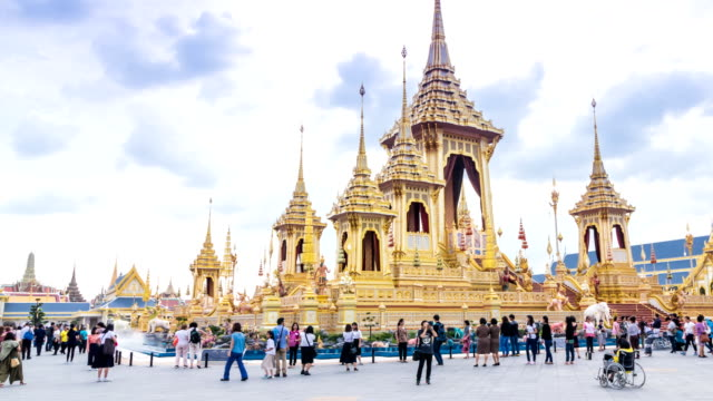 The royal crematoriam of thailand king was allowed for people to visit on november 2017 at royal field, bangkok, thailand