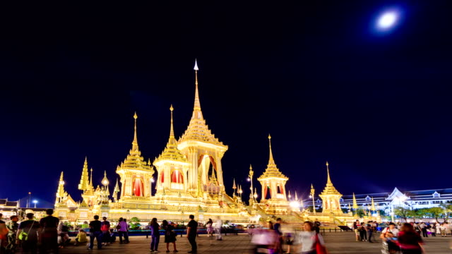 The royal crematoriam of thailand king which was cremated the king on october 26, 2017. Now It is open for people to visit 60 days on november and december 2017 at royal field, bangkok, thailand