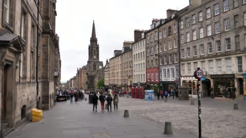 the royal mile, Edinburgh, United Kingdom, May 23rd 2018, 4k 10 bit the royal mile, Edinburgh, United Kingdom, May 23rd 2018, 4k 10 bit high up stock videos & royalty-free footage