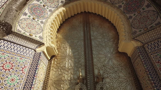 The Royal Palace Gate In Fes video